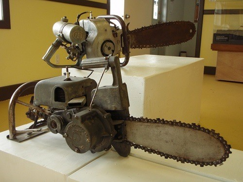 Two Old Chainsaws