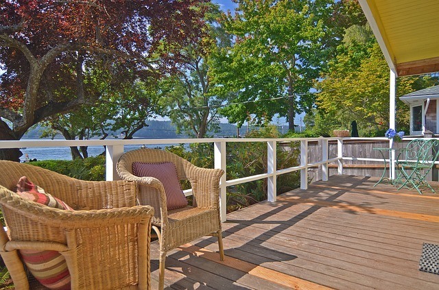 Build a deck as an outdoor living area