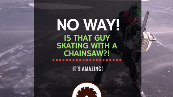 Guy Skating with a Chainsaw