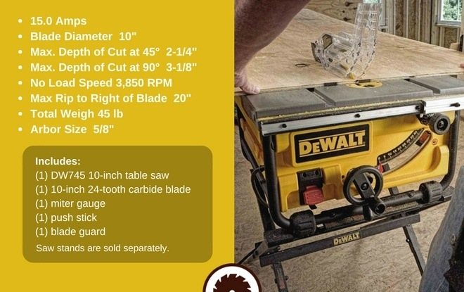 DeWalt Table Saw Reviews Specs