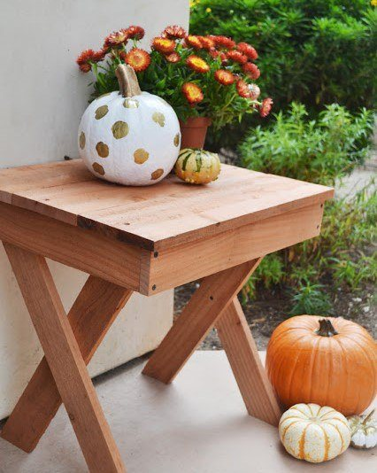 Fall Porch & Outdoor X Table