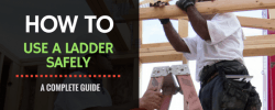 How to use a ladder safely