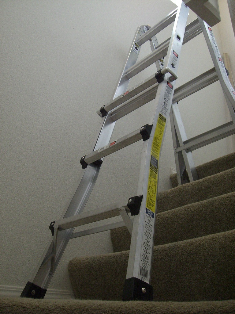 Make sure the ladder is level
