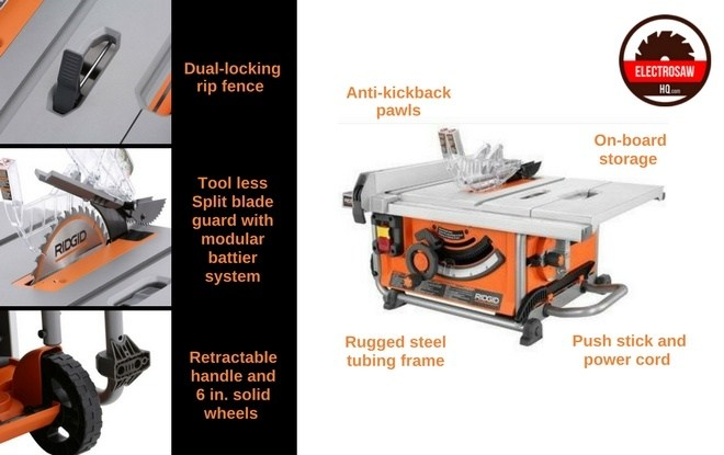 Ridgid Table Saw Features