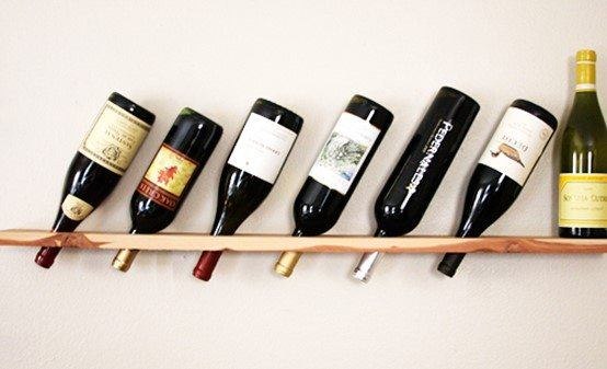 Wood Plank Wine Racks