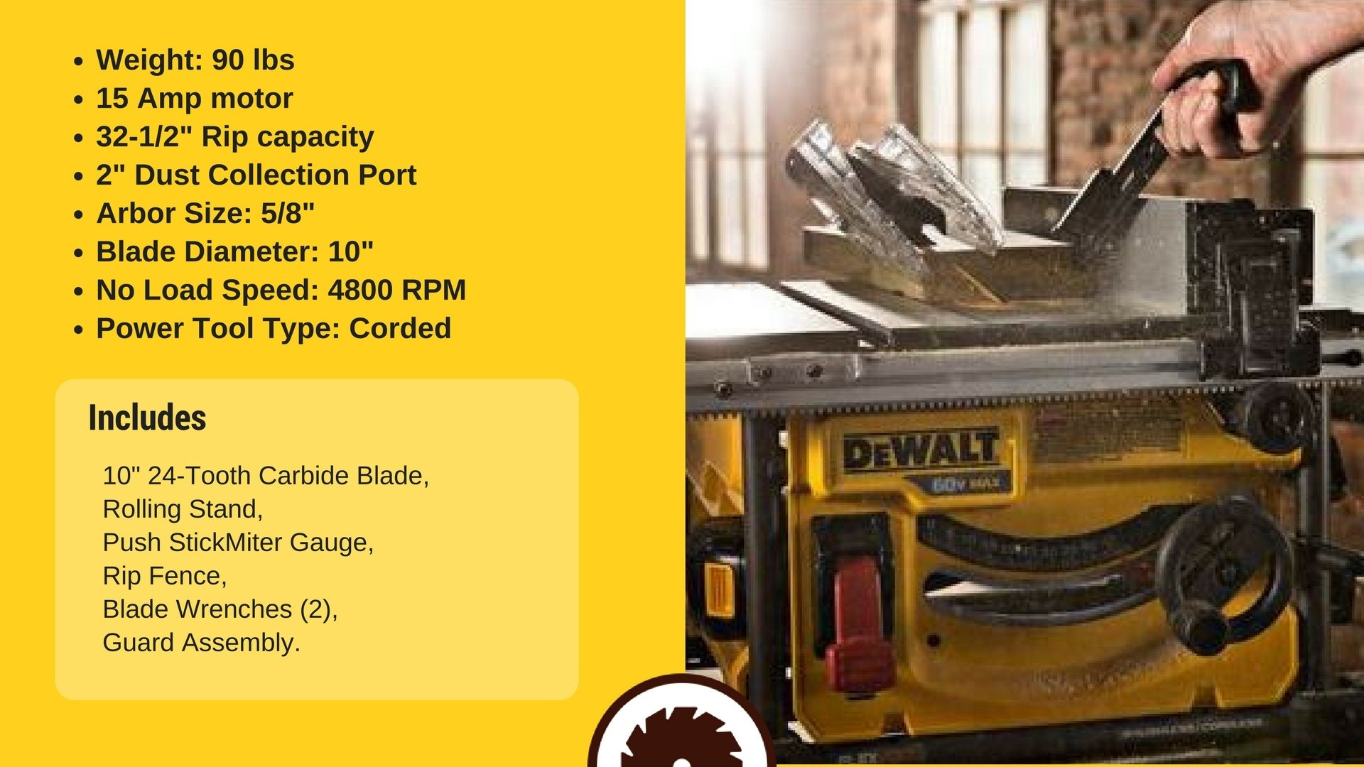 Best Inexpensive Table Saw Specs