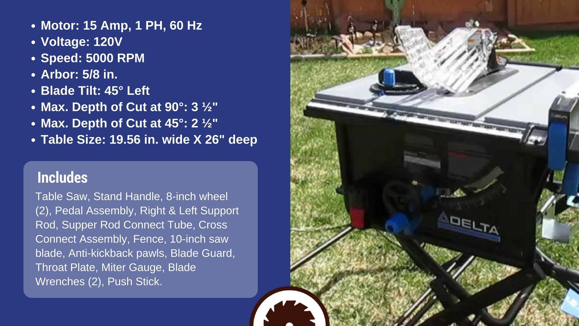Delta Table Saw Specs