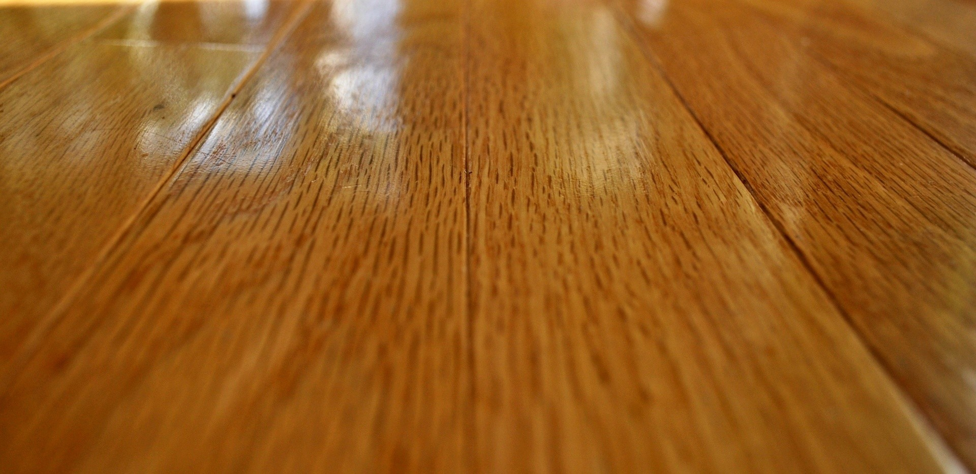 a zoom in on a plank of hardwood floor