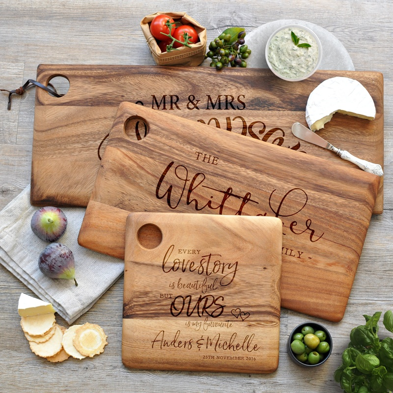 Etched Cutting And Serving Boards