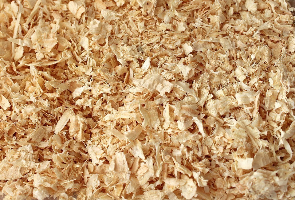 a pile of sawdust